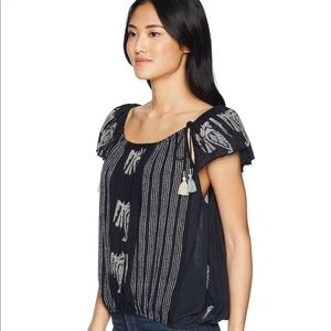 Free People Pukka Peasant Top Navy Size L New